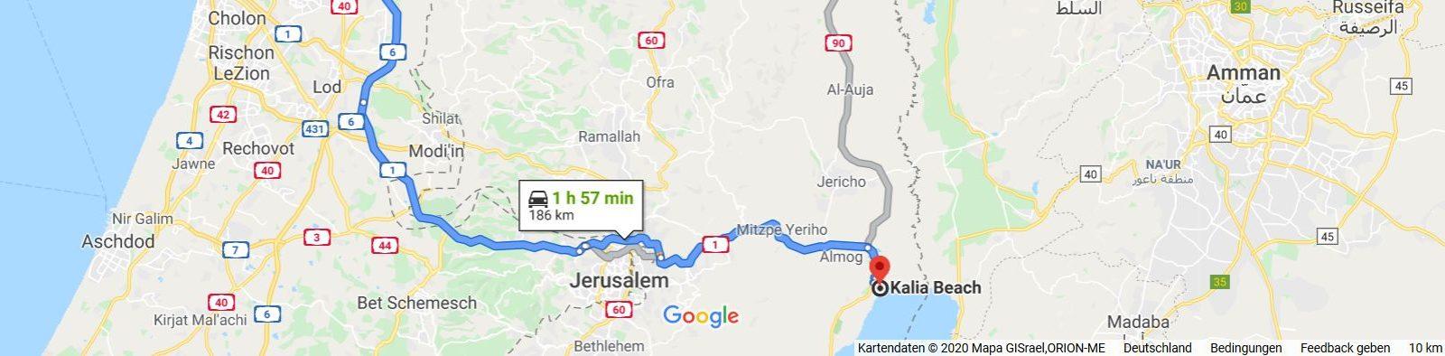 Von Haifa zum Toten Meer